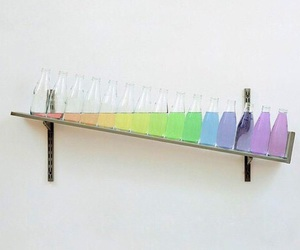 art, chemistry, and rainbow colors image