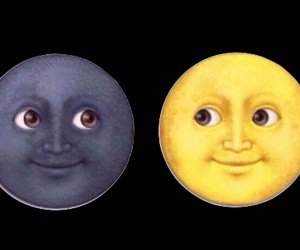 moon, emoji, and overlay image