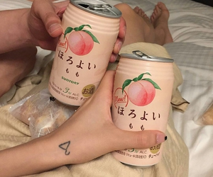 peach, drink, and aesthetic image