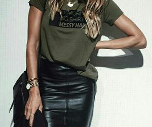black skirt, girl, and t-shirt image