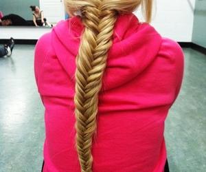 hair, green, and braid image