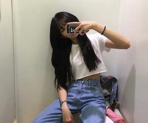 ulzzang, aesthetic, and asian girl image