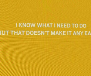 quote, words, and yellow image