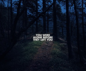 alone, quotes, and forest image