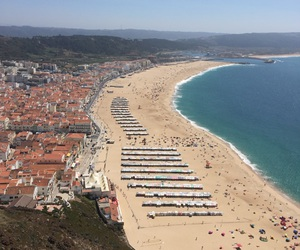 beach, ocean, and portugal image