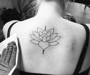 beautiful, tattoo, and black image