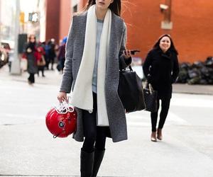 black, fashion style, and coat image