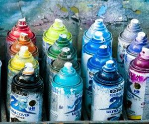 paint and rainbow image