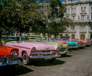 cars, vintage, and colors image