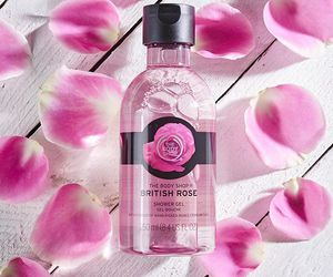 body care, rose, and shower gel image