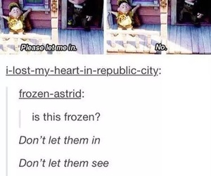 frozen, up, and funny image