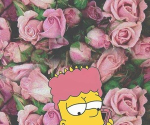 pink, bart, and wallpaper image
