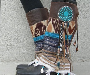 boho, boots, and chic image