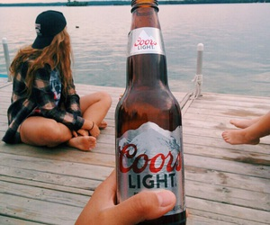 beer, summer, and drink image