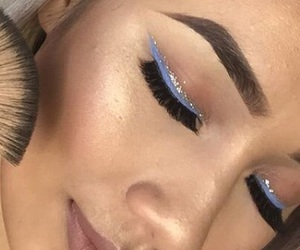 blue, colour, and eyebrows image