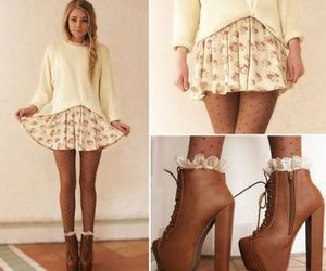 blonde, fashion, and boots image