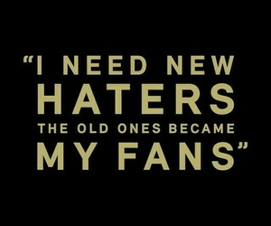 fan, haters, and funny image