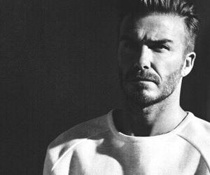 black and white, David Beckham, and football image