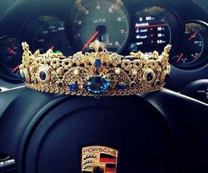 porsche, car, and crown image