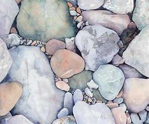 pastel, rocks, and stone image