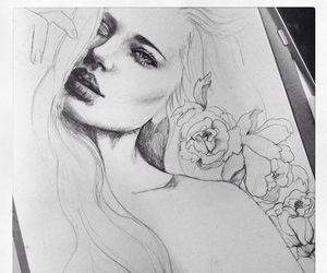 draw, art, and girl image