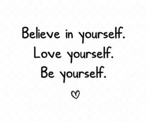 yourself, love, and be image
