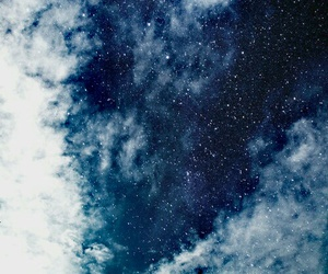 stars, sky, and blue image