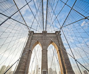 brooklyn bridge, new york, and photography image
