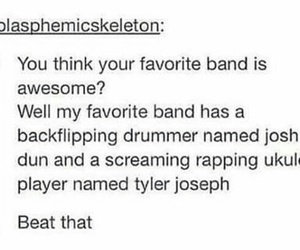 band, fan, and twenty one pilots image