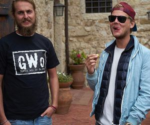 dj, guy friend, and tim bergling image