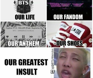 bts, rap monster, and army image