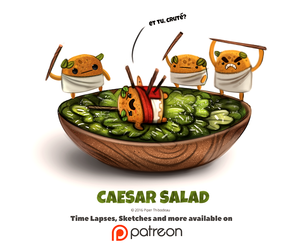 animations, art, and caesar salad image