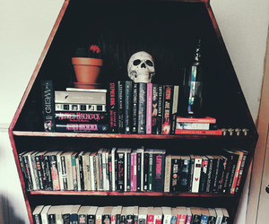 awww, books, and bookshelf image