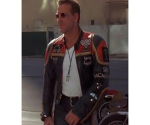 Mickey Rourke, man leather jacket, and mickey rourke jacket image