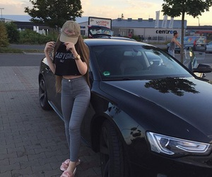 girl and car image