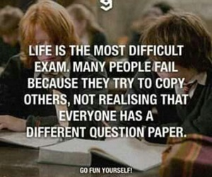 life, exam, and quotes image