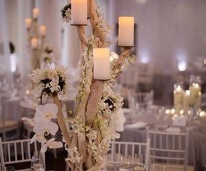 candles, ideas, and wedding image
