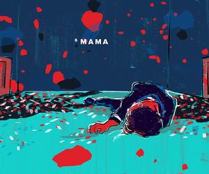 bts, drawing, and mama image