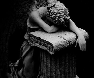 angel, angels, and black and white image