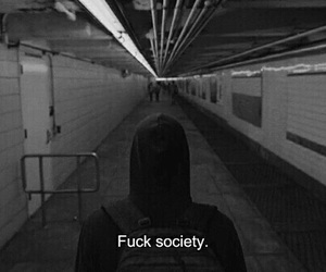 alone, quote, and society image