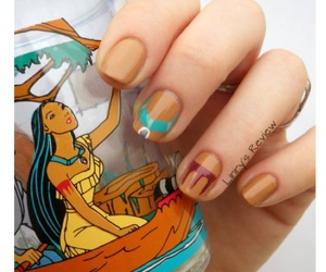 disney, nail, and nail art image