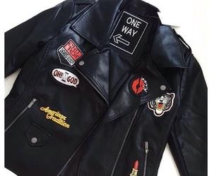 fashion, jacket, and leather jacket image