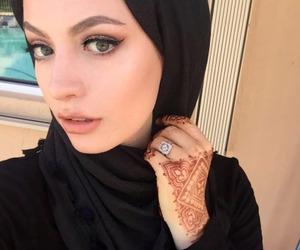 black, hijab, and tatto image