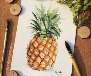 art, pineapple, and draw image