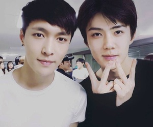 exo, sehun, and lay image