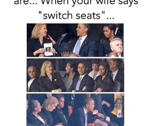 barack obama, funny, and michelle obama image