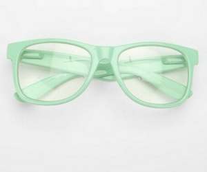 glasses, green, and mint image