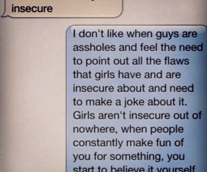 girl, insecure, and text image