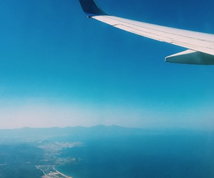 away, blue, and day image