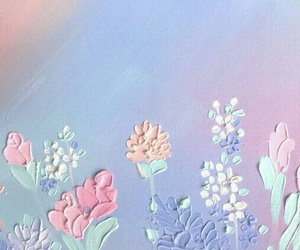 flowers, art, and pastel image